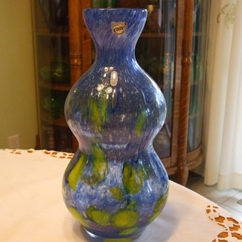 Another FLORA Flower Vase By PRACHEN Glassworks with BELFOR Label