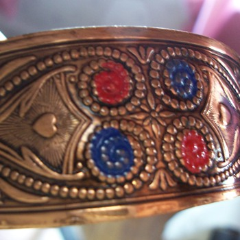 copper cuff bracelet - Costume Jewelry