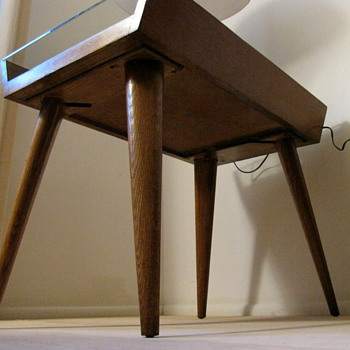 Early Oak Conant Ball Side Tableor what? - Mid Century Modern