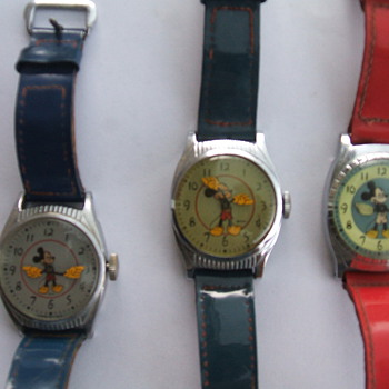 The 1948-49 20th Birthday Mickey Watches - Wristwatches