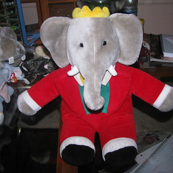 Babar large elephant plush - Animals