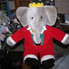 Babar large elephant plush