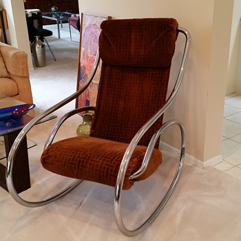 Chrome Rocking Chair - Furniture