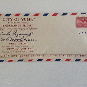 1940's envelopes with airmail stamps