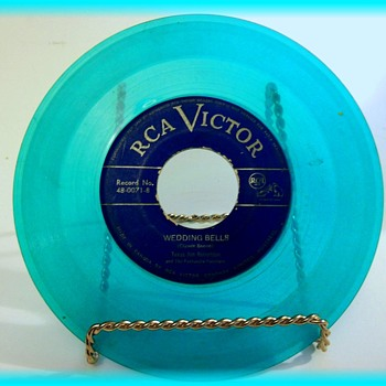 Vintage COLORED -- 45 Rpm Record - Records