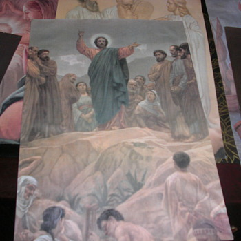 religious paintings on canvas or tapestry art unknown