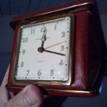 realy neat old Phinney -Walker travel clock - Clocks