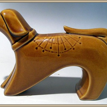 Unknown Ceramic Dog ?? - Art Pottery
