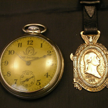1932 George Washington Pocket Watch & Fob - Pocket Watches