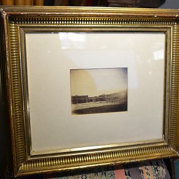 Very Old Albumen of a Pueblo Hacienda in a Lemon-gilded Frame - Photographs