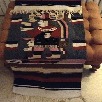 Vintage handloomed wool  blanket