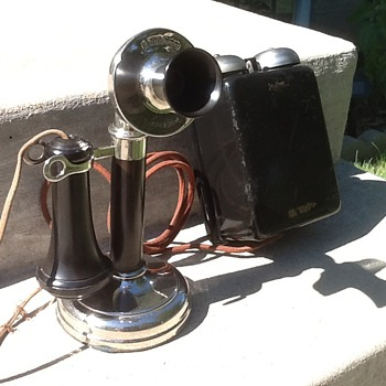 1908 Kellogg Candlestick phone with 1908 Bell Box - Telephones