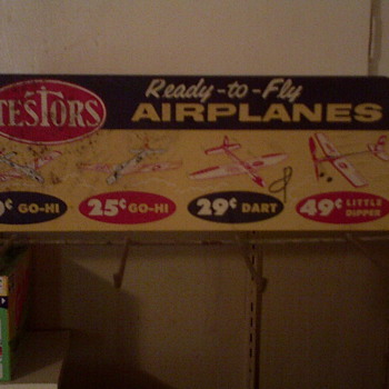 1950's Testor's Airplane Display Stand - Advertising