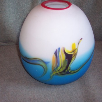 unknown maker satin art glass vase - Art Glass