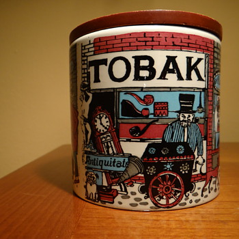 VINTAGE TOBAK JAR - WESTERN GERMANY - Tobacciana