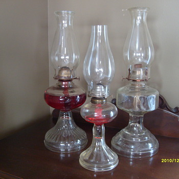 3 Oil Lamps - Lamps