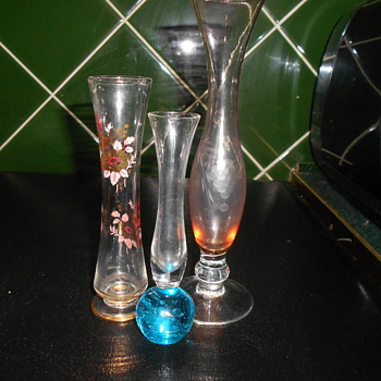 Bud Vases - Art Glass