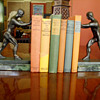 Art Deco Male Implied Nude Bookends