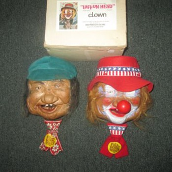 1973  LAFFUN HEADS made by BIBI PRODUCTS PETER FIGUREN