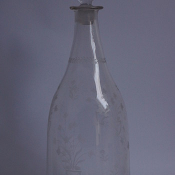 French 18th Century Decanter - Bottles