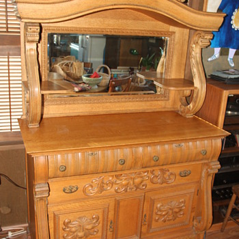 Oak Buffet - Need help identifying! - Furniture