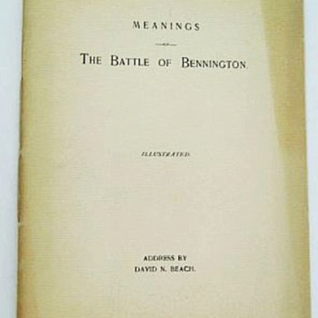 The Battle Of Bennington, American Revolutionary War