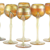 QUEZAL ART GLASS HOCK GLASSES, circa 1905