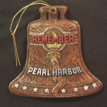 Remember Pearl Harbor Christmas Tree Ornament c. 1942 - Military and Wartime