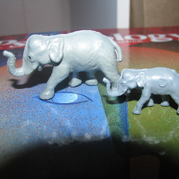 Older plastic elephant toys - Animals