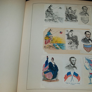"Civil War Patriotic Covers. Are they ""salesman samples"" or ""pattern examples""for colorists?"