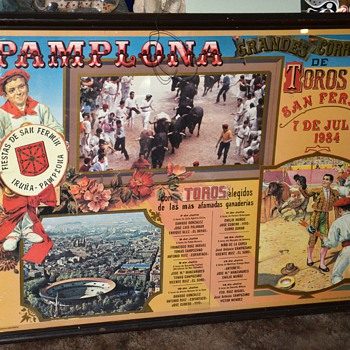 Los Toros de Pamplona y San Fermin - Poster - Posters and Prints