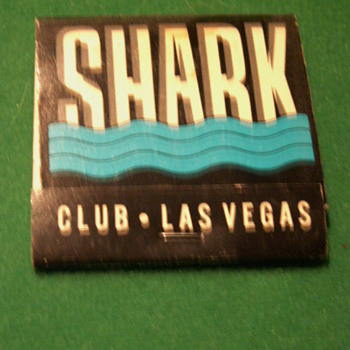 Vintage 80's Shark Club Matchbook ~ Las Vegas, Nevada - Tobacciana