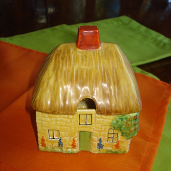 Carlton Ware Cottage Sugar or Jam Box - Art Pottery