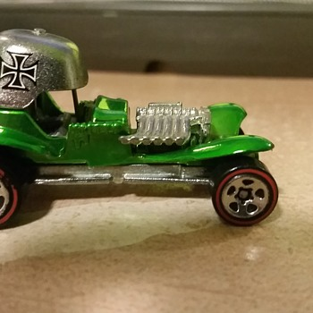 Green Red Barron with redline wheels 1969 marked Vintage ?? - Model Cars