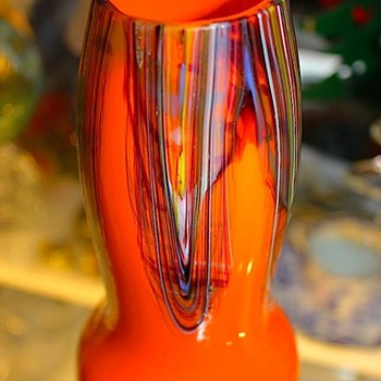 Signed Czech Multi-Color Vase