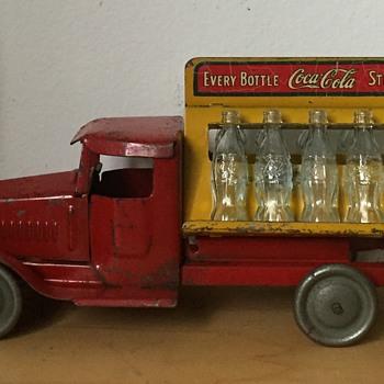Antique Metalcraft Coca-Cola Soda Advertising Pressed Steel Toy Truck