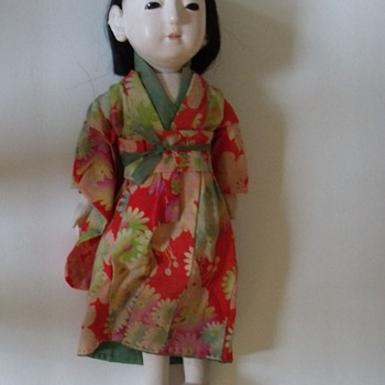 Vintage Old Japanese Doll