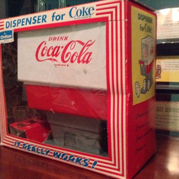 1960s coca cola dispenser toy in box
