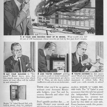1951 - Mosler Safe Advertisement