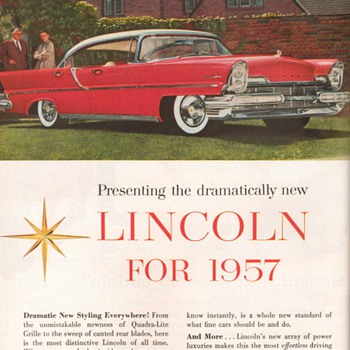 1957 - Lincoln Premiere Advertisement - Advertising