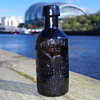 WALTER FORBES BLACK GLASS GINGER BEER NEWCASTLE