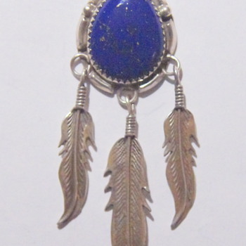 Navajo? Necklace - Silver and Lapis Lazuli