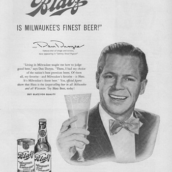 1950 Blatz Beer Advertisement - Advertising