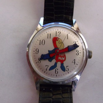 "Helsbro ""Bud Man"" Wrist Watch"