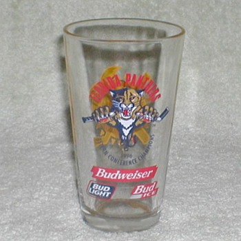1996 - Florida Panthers / Budweiser Glass - Advertising