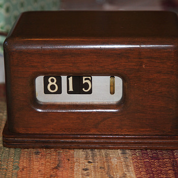 Wooden Case Barr Manufacturing Digital Clock - Art Deco