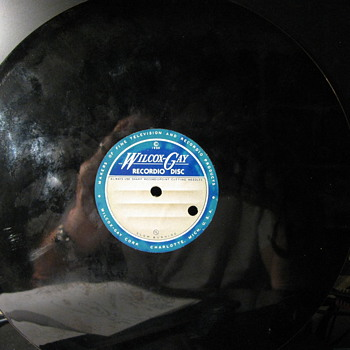 Blank Recordio Disc from 1950