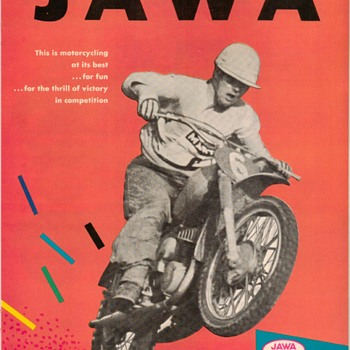 1965 - JAWA Motorcycles Advertisement Pamphlet - Paper