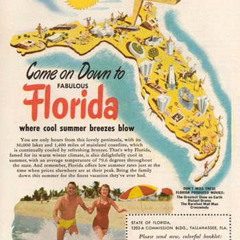 1952 - Florida Travel Advertisement - Advertising