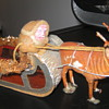 "Antique 8"" Santa and sleigh"